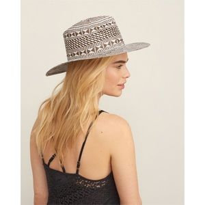Abercrombie & Fitch Woven Two-Tone Panama Hat